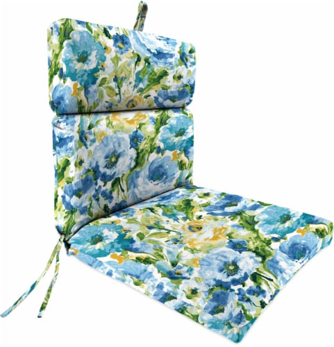 Jordan Manufacturing French Edge Chair Cushion - Lessandra Sunblue Perspective: front