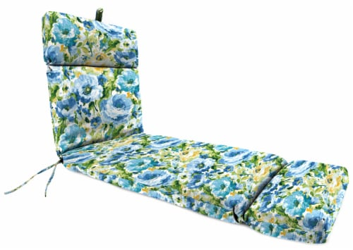 Jordan Manufacturing French Edge Chaise Chair Cushion - Lessandra Sunblue 22 x 72 in Perspective: front