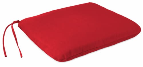 Jordan Manufacturing Seat Cushion - Veranda Red Perspective: front