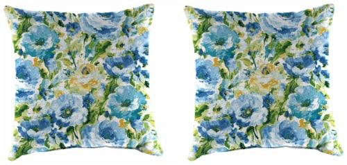Jordan Manufacturing Toss Pillow - Lessandra Sunblue Perspective: front