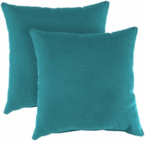 Jordan Manufacturing Toss Pillow - Husk Texture Lagoon Perspective: front