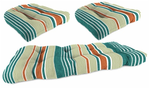 Jordan Manufacturing Wicker Settee Cushion Set - Bacall Sonoma Perspective: front