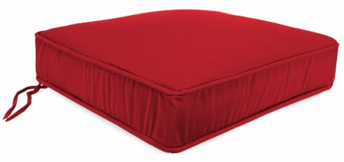 Jordan Manufacturing Deep Seat Chair Cushion - Veranda Red 22.5 x 21.5 in Perspective: front
