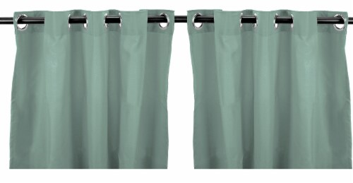 Jordan Manufacturing Solid Spa Outdoor Curtain Panel Set - 2 Pack Perspective: front