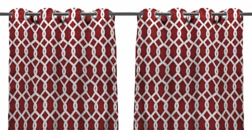 Jordan Manufacturing Outdoor Curtain Panel - 2 Pack - Cayo Pompeii Perspective: front