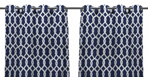 Jordan Manufacturing Cayo Admiral Outdoor Curtain Panel Set - 2 Pack Perspective: front