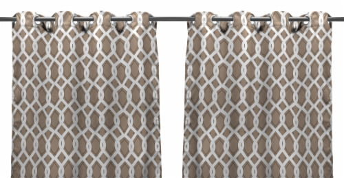 Jordan Manufacturing Cayo Linen Outdoor Curtain Panel Set - 2 Pack Perspective: front