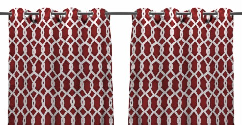 Jordan Manufacturing Outdoor Curtain Panels - 2 Pack - Cayo Pompeii Perspective: front