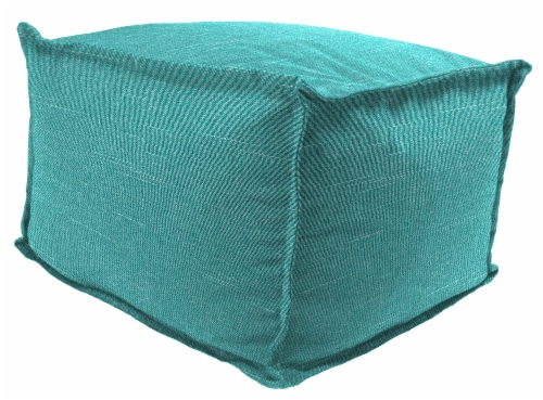 Jordan Manufacturing Tory Caribe Outdoor Square Bead Filled Pouf/Ottoman Perspective: front