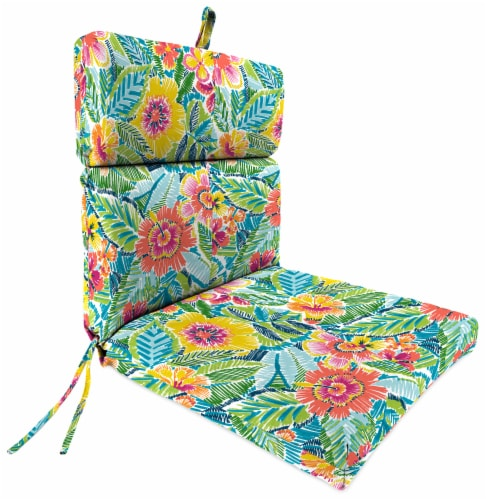 Jordan Manufacturing Pensacola Multi Outdoor French Edge Dining Chair Cushion Perspective: front