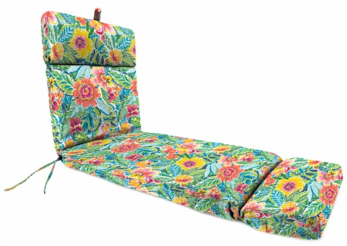 Jordan Manufacturing Pensacola Multi Outdoor French Edge Chaise Lounge Cushion Perspective: front