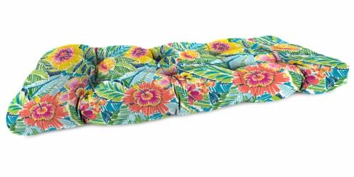 Jordan Manufacturing Pensacola Multi Outdoor Knife Edge Wicker Loveseat Cushion Perspective: front