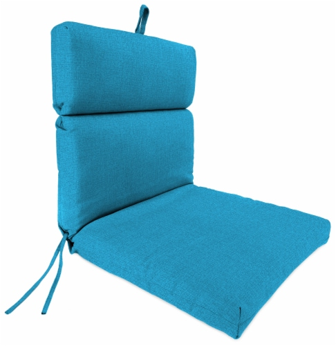 Jordan Manufacturing McHusk Hawaiian Outdoor French Edge Dining Chair Cushion Perspective: front