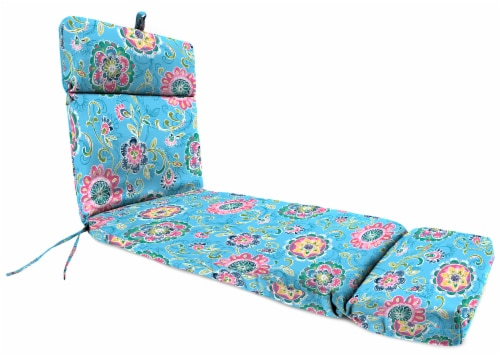 Jordan Manufacturing Fanfare Island Outdoor French Edge Chaise Lounge Cushion Perspective: front