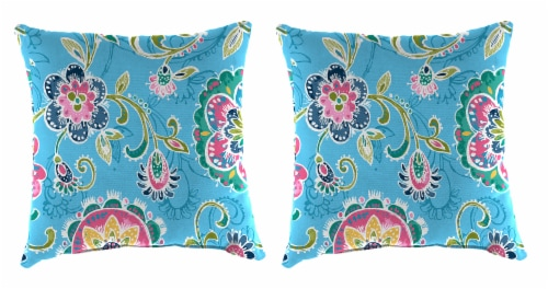 Jordan Manufacturing Fanfare Island Outdoor Knife Edge Throw Pillows - 2 Pack Perspective: front