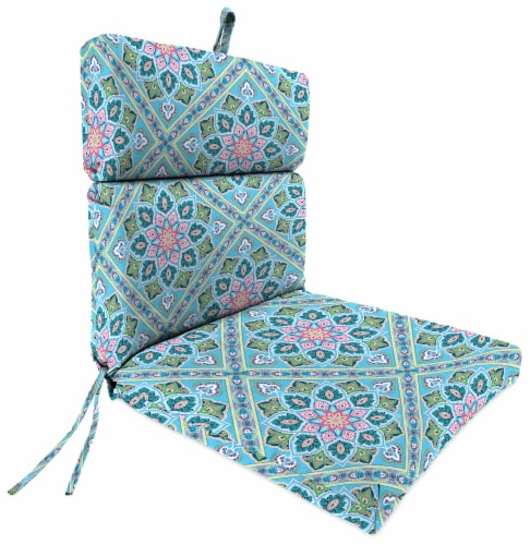 Jordan Manufacturing Medlo Island Outdoor French Edge Dining Chair Cushion Perspective: front