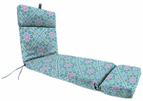 Jordan Manufacturing Medlo Island Outdoor French Edge Chaise Lounge Cushion Perspective: front