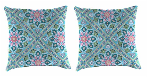 Jordan Manufacturing Medlo Island Outdoor Knife Edge Throw Pillows - 2 Pack Perspective: front