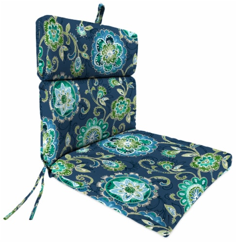 Jordan Manufacturing Fanfare Capri Outdoor French Edge Dining Chair Cushion Perspective: front