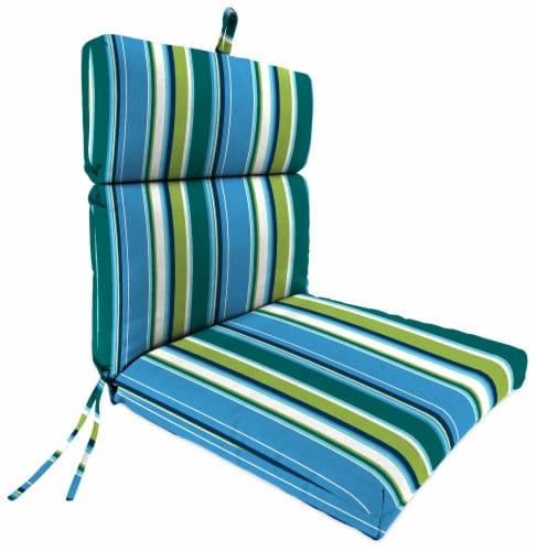 Jordan Manufacturing Covert Capri Outdoor French Edge Dining Chair Cushion Perspective: front
