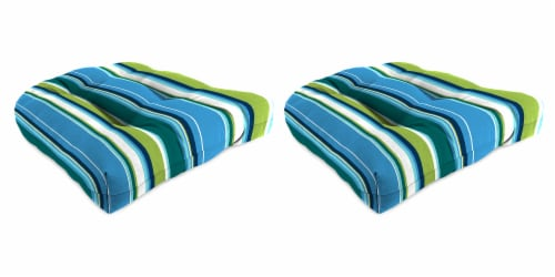 Jordan Manufacturing Covert Capri Outdoor Wicker Chair Cushions - 2 Pack Perspective: front