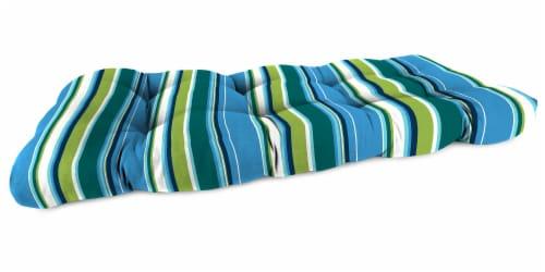 Jordan Manufacturing Covert Capri Outdoor Wicker Loveseat Cushion Perspective: front