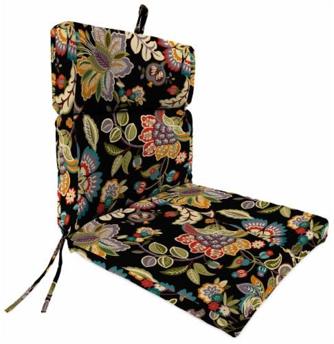 Jordan Manufacturing Telfair Midnight Outdoor French Edge Dining Chair Cushion Perspective: front