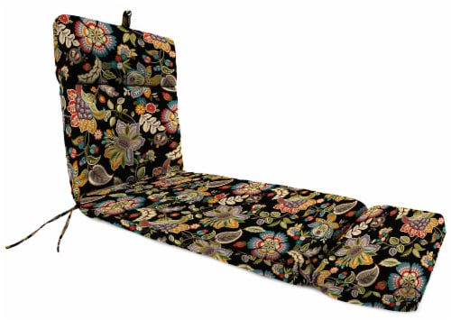 Jordan Manufacturing Telfair Midnight Outdoor French Edge Chaise Lounge Cushion Perspective: front