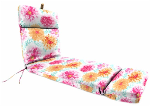 Jordan Manufacturing Gardenia Bloom Outdoor French Edge Chaise Lounge Cushion Perspective: front
