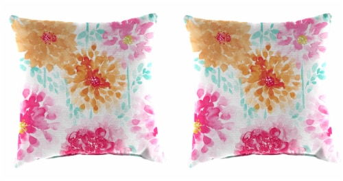 Jordan Manufacturing Gardenia Bloom Outdoor Accessory Throw Pillows Perspective: front
