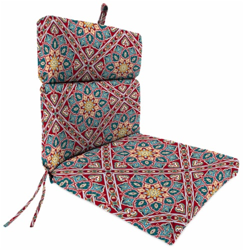 Jordan Manufacturing Medlo Sonoma Outdoor French Edge Dining Chair Cushion Perspective: front