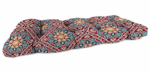 Jordan Manufacturing Medlo Sonoma Outdoor Wicker Loveseat Cushion Perspective: front