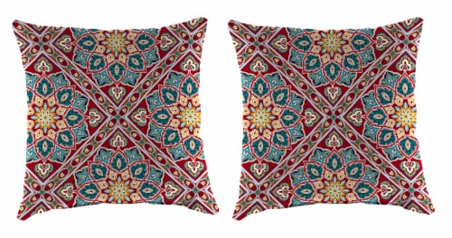 Jordan Manufacturing Medlo Sonoma Outdoor Accessory Throw Pillows - 2 Pack Perspective: front