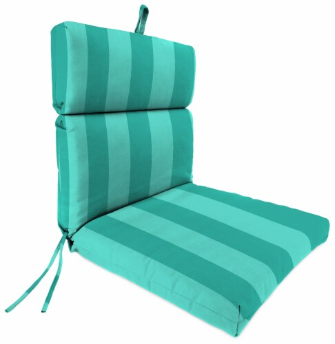 Jordan Manufacturing Preview Lagoon Outdoor French Edge Dining Chair Cushion Perspective: front