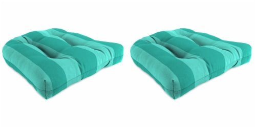 Jordan Manufacturing Preview Lagoon Outdoor Wicker Chair Cushions - 2 Pack Perspective: front