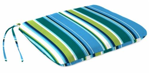 Jordan Manufacturing Covert Capri Outdoor Monoblock Seat Cushions Perspective: front
