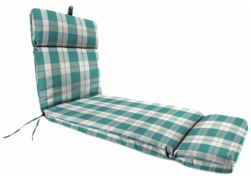 Jordan Manufacturing Branson Stripe Opal Outdoor French Edge Chaise Lounge Cushion Perspective: front