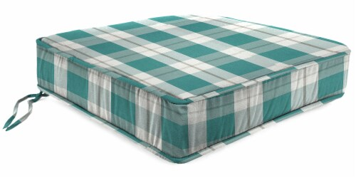 Jordan Manufacturing Branson Stripe Opal Outdoor Boxed Edge Deep Seat Cushion Perspective: front