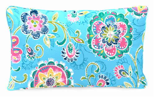 Jordan Manufacturing Fanfare Island Outdoor Lumbar Accessory Throw Pillows - 2 Pack Perspective: front