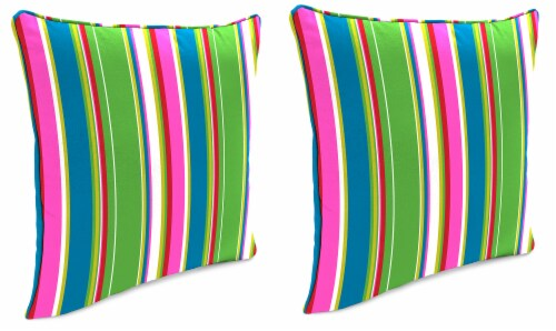 Jordan Manufacturing Covert Island Outdoor Accessory Throw Pillows with Welt - 2 Pack Perspective: front