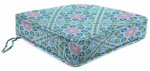 Jordan Manufacturing Medlo Island Outdoor Boxed Edge Deep Seat Cushion Perspective: front