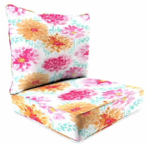 Jordan Manufacturing Gardenia Bloom Outdoor Deep Seat Chair Cushion Perspective: front