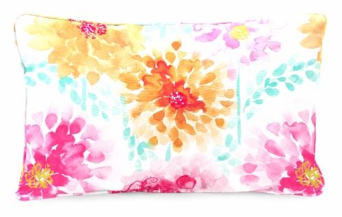 Jordan Manufacturing Gardenia Bloom Outdoor Lumbar Accessory Throw Pillows - 2 Pack Perspective: front