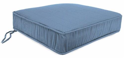 Jordan Manufacturing Outdoor Boxed Edge Deep Seat Cushion - Dawson Lapis Perspective: front
