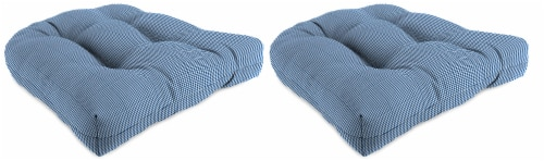 Jordan Manufacturing Dawson Lapis Outdoor Wicker Chair Cushions -2 Pack Perspective: front