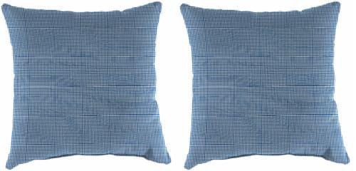 Jordan Manufacturing Outdoor Throw Pillows - 2 Pack - Dawson Lapis Perspective: front