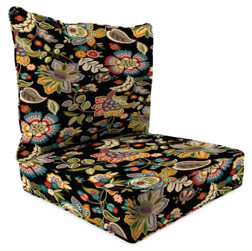 Jordan Manufacturing Telfair Midnight Outdoor Deep Seat Chair Cushion Perspective: front