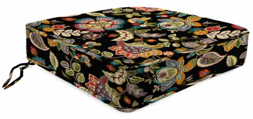 Jordan Manufacturing Telfair Midnight Outdoor Boxed Edge Deep Seat Cushion Perspective: front