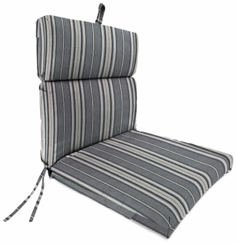 Jordan Manufacturing Terrace Noir Outdoor French Edge Dining Chair Cushion Perspective: front