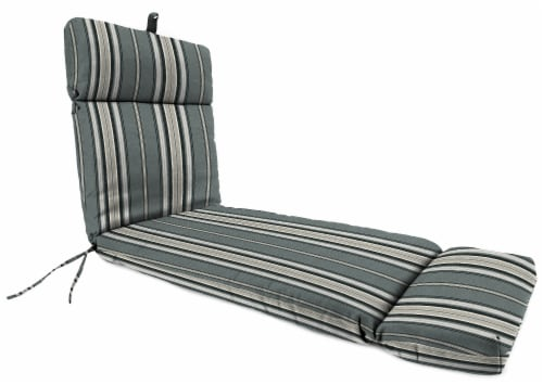 Jordan Manufacturing Terrace Noir Outdoor French Edge Chaise Lounge Cushion Perspective: front